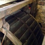 The mill wheel is stopped.